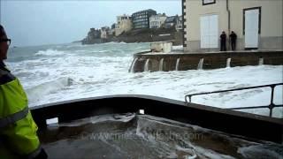 preview picture of video 'Grandes marées Saint-Malo Vendredi 20 Février 2015'