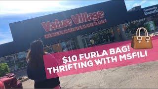 FOUND $10 FURLA BAG  | THRIFTING WITH MSFILI
