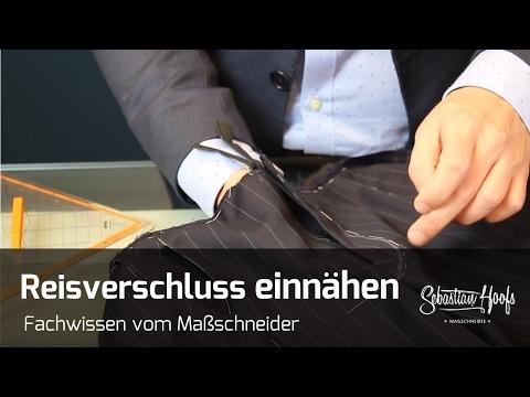 Reißverschluss in eine Hose nähen - Tutorial vom Maßschneider Sebastian Hoofs