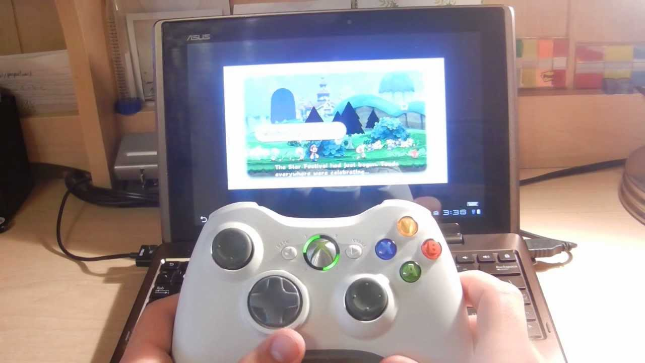 Here's A Guy Playing Wii On An Android Tablet With An Xbox 360 Controller