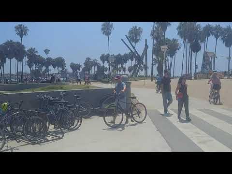 Venice Beach boardwalk at the skate park