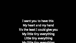 The Sugi Tap - Little Tiny Everything (lyrics)