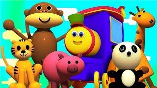 Bob Động Vật Xe Lửa | Học Tên Động Vật | Động Vật Hoạt Hình | Animals In Bob Train | Kids Tv Vietnam