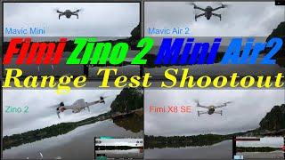 Zino 2 - Fimi X8 Se - Mavic Air 2 - Mavic Mini - Range Test Shoot out over Lake Anna Virginia