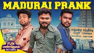Madurai Prank   Fun Panrom Returns   Vj Siddu , Settai Sheriff & Harshath Khan   Blacksheep