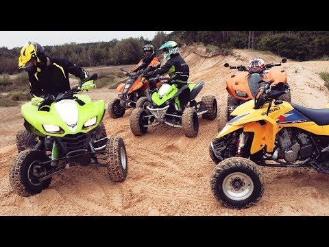 Awesome one day on quad bikes - Team Kawasaki vs Team Suzuki