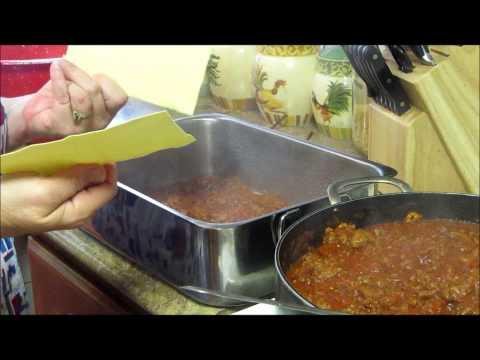 Homemade Lasagna And Italian Gravy Sauce