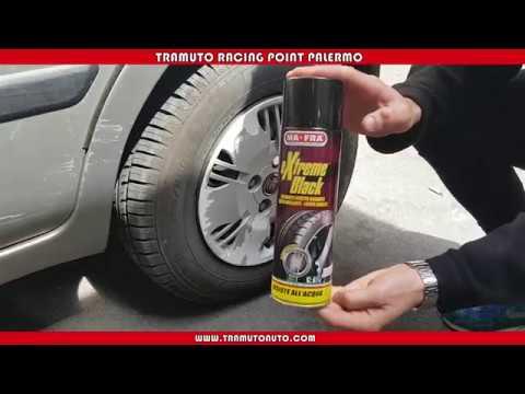 Lucidare le gomme dell'auto - Tutorial Tramuto Auto - MA-FRA Extreme Black 500 ml