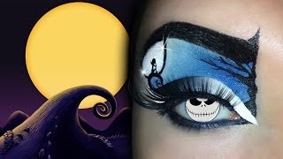 Tim Burton's Movies Inspired MakeUp Tutorial ft. BambolaMalefica (Nightmare Before Christmas)