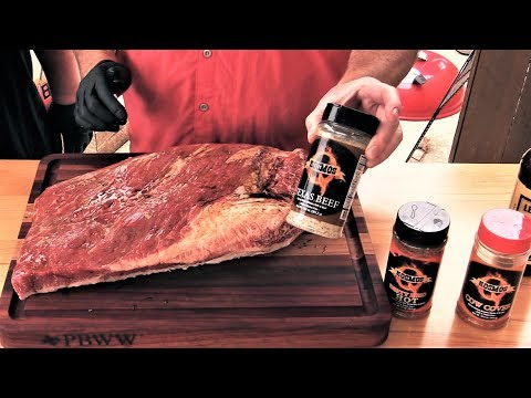 Competition Brisket using KosmosQ Rubs on LSG 24x48 Offset
