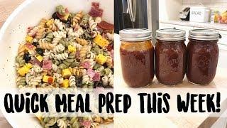 Quick Meal Prep Video! Pasta Salad, Adam's BBQ Sauce Recipe, Pork Loin, Turkey Broth