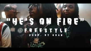 SSG Splurge x Rizzoo Rizzoo x Rico Recklezz - He's On Fire (Freestyle) Shot By @Jmoney1041