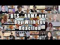 """BTS - 'Boy With Luv feat. Halsey' Official MV ('ARMY With Luv' ver.) """"Reaction Mashup"""""""