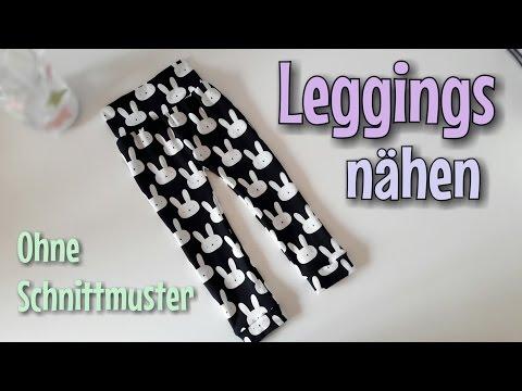 Leggings Nähanleitung - OHNE Schnittmuster - Anfänger - Nähtinchen
