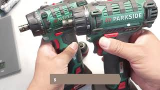 Parkside PBSA 12 D2 compare PBSA 12 D3  Cordless screwdriver  X12VTeam Unboxing and TEST