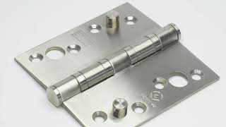 Heavy Duty Hinge - Security - Stainless Steel, Polished Finish - 3mm Thick