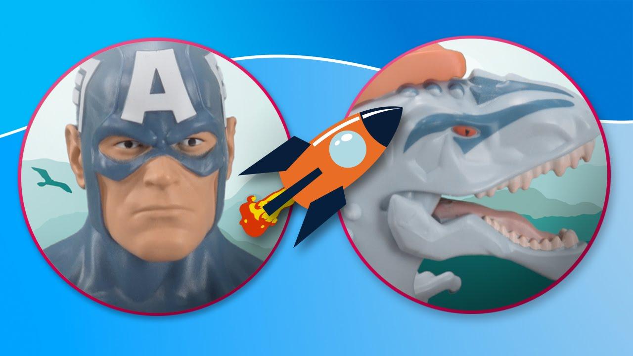 Capitán América vs Indominus Rex | Jurassic World