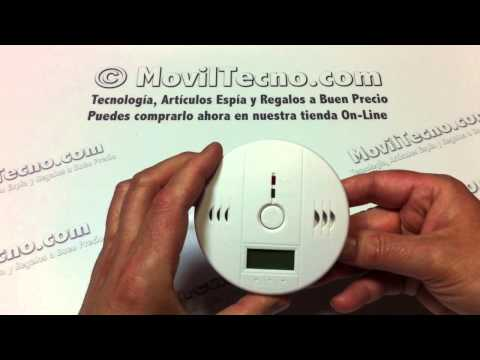 Alarma con detector de Monóxido de carbono en MovilTecno.com