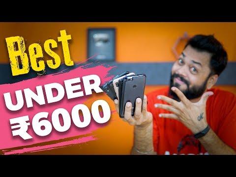 TOP 5 BEST PHONES UNDER 6000 in 2018 ⚡⚡⚡Sabse Acche Budget Phones