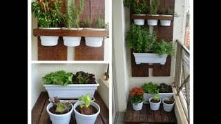 Horta vertical e plantio de mudas
