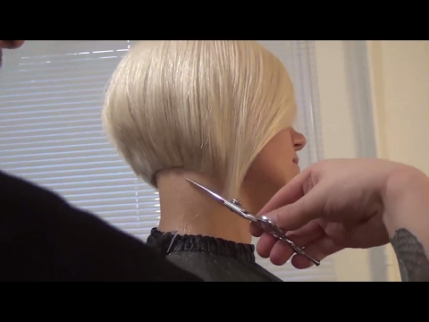 Hairdresser education: bob haircut step by step. Hairstyle tutorial.