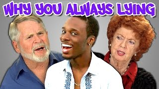 Elders React to Why You Always Lying Vine Compilation