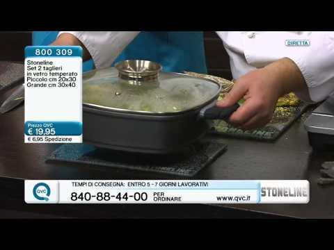 STONELINE® Glasschneidebrett 2 tlg. - 2 taglieri in vetro temperato in 2 misure - QVC Italia