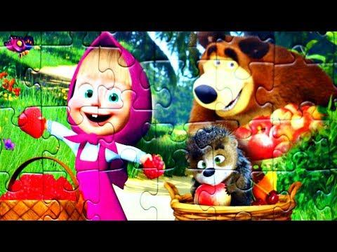 Маша и Медведь  День Варенья - собираем пазлы для детей Маша и Медведь