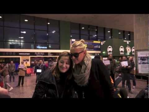La bellissima Maria Sharapova atterra a Malpensa