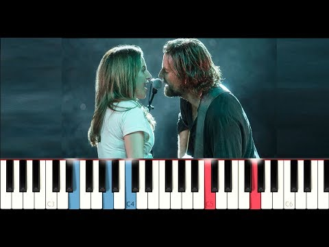 Lady Gaga & Bradley Cooper - Shallow (A Star Is Born) (Piano Tutorial) Mp3