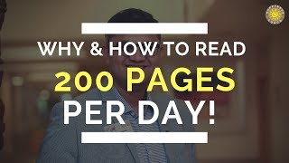 How to Read 200 Pages per day - Easy and Simple Method