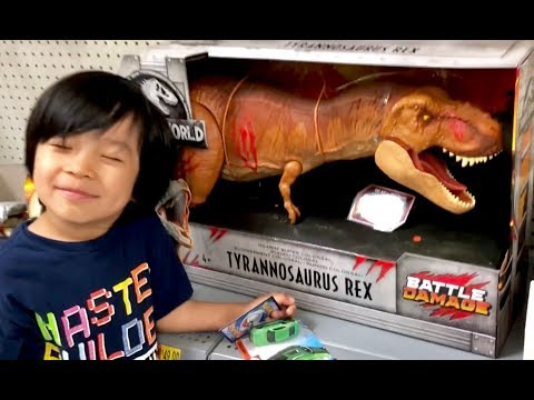 Cars 3 Toys Hunt - Jurassic World Fallen Kingdom Toys Hunt Matchbox - ROARin SUPER Colossal T Rex