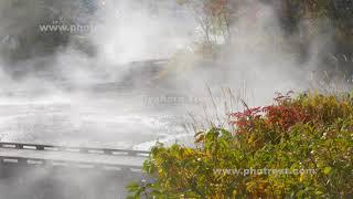 秋の川湯温泉