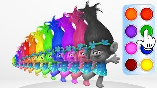 Learn Colors with Trolls Poppy - Learning True Colors Animation for Baby Children Toddler and Kids