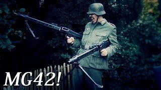 MG42 Unboxing And Review Some Deactivated German WW2 Weapons - Wearing A WWII Wehrmacht Uniform