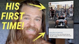 Brad Castleberry Lifts REAL WEIGHTS?!?