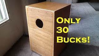 $30 Cajon drum YOU can make