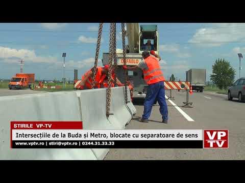 Intersecțiile de la Buda și Metro, blocate cu separatoare de sens