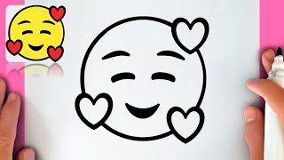 HOW TO DRAW EMOJI WITH HEARTS