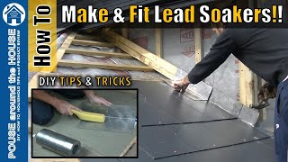 How to make & fit lead soakers. Lead soaker install on slate roof!