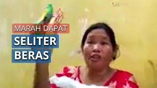 Viral Emak-emak Marah Dapat Bansos 1 Liter Beras dan 2 Mi Instan: Maaf, Saya Tak Tahu Kalau dari RW