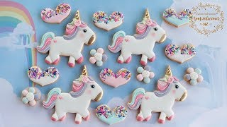 How To Make Sparkles The Unicorn & Sprinkled Heart Cookies
