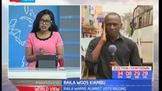 Raila Odinga takes his campaign to Jubilee's stronghold of Kiambu, Raila woos Kiambu