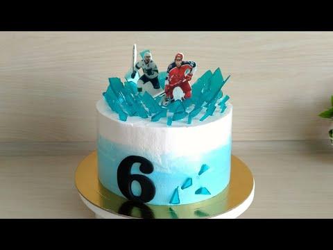 Как оформить торт для хоккеиста