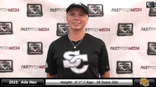 2022 Ada Neu - Hard Throwing - Pitcher Softball Skills Video - Ca Suncats