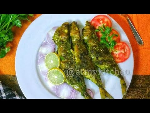 Grilled Green Masala Mackerel Fish