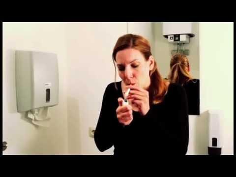 Der Krankenbericht Rauchen aufgebend mit tabeksom