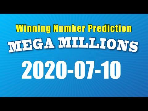 Winning numbers prediction for 2020-07-10|U.S. Mega Millions