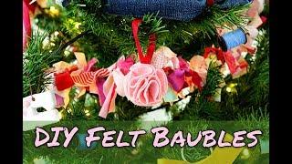 How To Make Christmas Decorations   No Sew DIY Felt Baubles