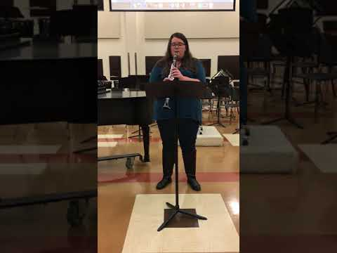 My performance of Chanson Moderne by Nilo Hovey for a USAO student recital.